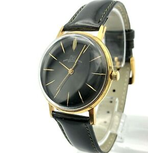 Vintage Ultra Slim Mens Costume Watch LUCH Vympel USSR Formal 2209 Gold Plated