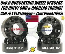 Chevy GMC 6x5.5 Wheel Spacers Hubcentric 1.5 Inch For 6 Lug Silverado Sierra