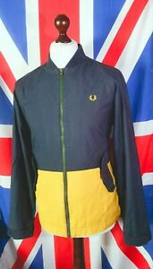Fred Perry X Bradley Wiggins Bomber Jacket - M - Navy - Mod Casuals 60's