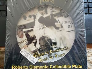 ROBERTO CLEMENTE PITTSBURGH PIRATES COLLECTOR PLATE BY WASTE MANAGEMENT RARE
