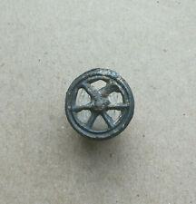 "Ancient Viking Tin pendant AMULET "" WHEEL OF FORTUNE "" GREAT SAVE RARE!"