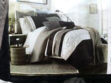 Home Emmett 10 piece Comforter King Set Black Gray / Granite NIB