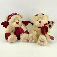 RBI HSN Harrison Bear Holly Teddy Bear Christmas Set Boy Girl Plush Jointed 2001