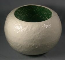 Vintage 50s Riddell California Pottery Snowball Christmas Punch Bowl