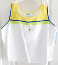 Lily's of Beverly Hills Sleeveless Tennis Golf Shirt, Yellow White, Size XL, NWT