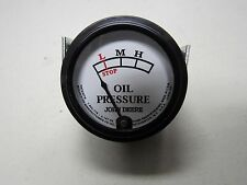 JOHN DEERE A B  STYLED TRACTOR WHITE FACED OIL PRESSURE GAUGE W/STUDS  5729
