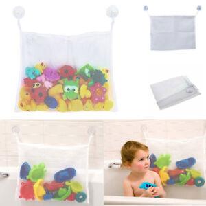Kids Baby Bath Toy Hanging Sucker Storage Bag Organizer Child Net Suctions Tubs