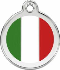 Red Dingo Enamel Dog & Cat ID Tags Italian Flag
