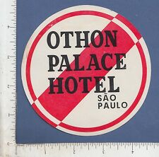 9815 Othon Palace Hotel luggage label sticker San Paulo Brazil South America