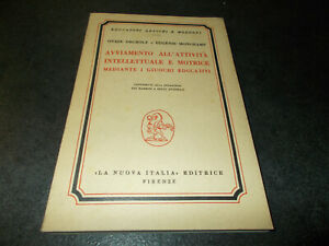 AVVIAMNETO ALL'ATTIVITà INTELLETTUALE E MOTRICE MEDIANTE GIUOCHI EDUCATIVI 1958