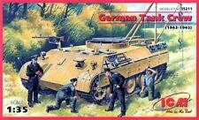 Tanque Alemán (reparación) Tripulación (para pantera, tigre, Panzer IV Etc) 1/35 ICM