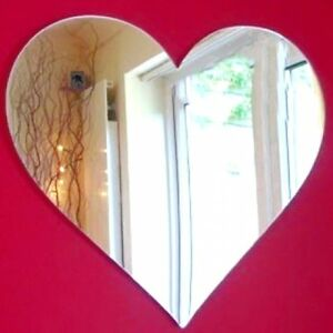 Heart Acrylic Mirror (Several Sizes Available)