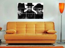 "Run Dmc 35""X25"" Inch Mosaic Wall Poster Hip Hop Rap D.M.C."