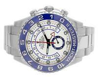 Mens Rolex Yacht Master II Stainless Steel 44 MM 116680 Oyster Ceramic Watch