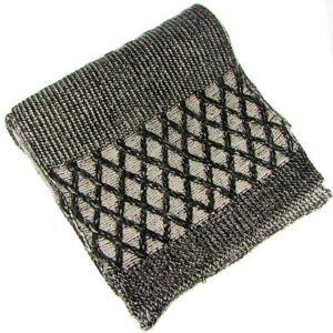 Euphyllia Steve Cross Knit Design Scarf Black (b920blk)