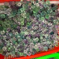 2.2LB Natural rainbow fluorite octahedral quartz crystal wand point healing
