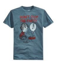 Mighty Fine Mens Don'T Stop The Party Graphic T-Shirt, Blue, Large