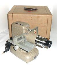 Vtg TDC Vivid Projector Model D Selectron Semimatic Slide Changer & Tweed Case