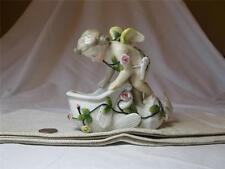 CHERUB ANGEL MEISSEN DRESDEN GERMAN PORCELAIN FIGURINE ANTIQUE DOLPHIN c1890