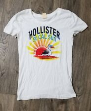 Women's Hollister Surf Style Clothing Brand Shirt White Red Black Yellow Size M