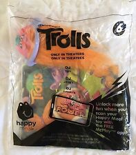 New Sealed Dreamworks Trolls Dj McDonald's Happy Meal Toy #6 2016 Free Shipping