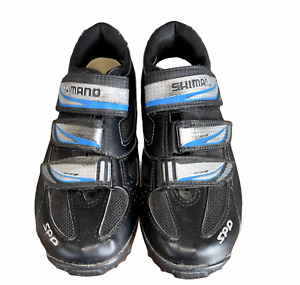 Shimano Cycling Shoes Size 7.5 Womens 39 Black SPD Clip On Hook Loop Strap WM-51