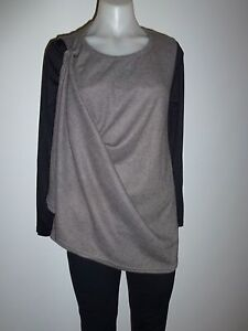 womens ladies 2 way wear tunic size 10  top tunic knit jacket jumper NEW