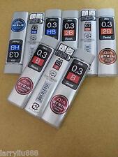 "Pentel ""Ain STEIN"" pencil lead B 0.3mm x 3 tubes x 15pcs x60mm FREE Shipment"
