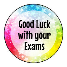 Good Luck With Your Exams Stickers Labels Sweet Cones Party Bags