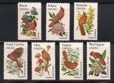 Cardinals - State Birds - Set Of 7 U.S. Postage Stamps - Mint Condition