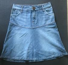 Fashion Women Gap H&M Floral Flower Denim Blue Black White Jean Skirt Size 2 4
