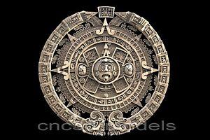 3D STL Models for CNC Router Artcam Aspire Aztec Maya Aztecs Calendar 180
