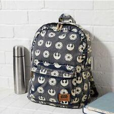 Loungefly x Star Wars Imperial Starbird Symbol Denim Backpack NWT