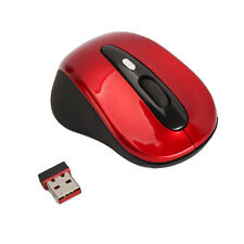 2.4G Wireless Optical Mouse Red for PC Laptop/Notebook Computer+USB Receiver