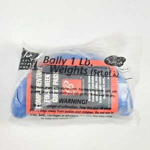 Pair Bally Total Fitness 1 Lb Walking Weights Blue Soft Neoprene Grip New