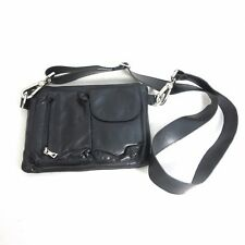 RUDSAK Cute Black Soft Leather Multi Pocket Crossbody Purse Clutch Bag 0209SB