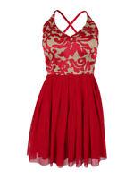 Teeze Me Juniors' Sleeveless Embroidered Dress
