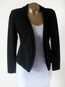 Blazer Jacket Joseph Ribkoff Black UK 10 Tailored Biker Style Jersey