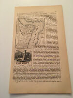 K37) West Point Hudson River New York Map American Revolution 1860 Engraving