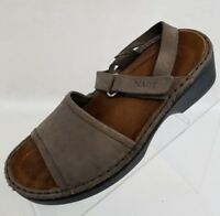 Naot Sandals Wedge Ankle Strap Womens Brown Leather Shoes Size EU 37 US 6.5