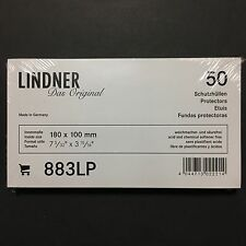 50 PIECES LINDNER PROTECTIVE SLEEVES 883LP *MADE IN GERMANY*
