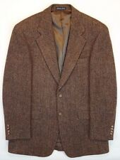 Harris Tweed Blazer 39R Brown Multicolor Wool Mens 2 Button Vented Lined Size Sz