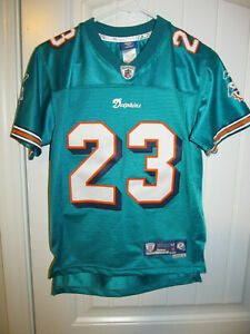 Ronnie Brown  - Miami Dolphins Sewn Jersey - Reebok Youth Medium