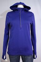 Champion Misses SMALL Blue Hooded 1/2 Zip Pullover Hoodie Jacket Thumbholes