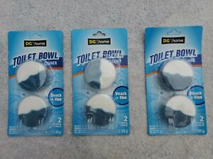 3 Automatic Toilet Bowl Cleaner Disinfecting Bleach/Blue Color Tablets 2 Pack