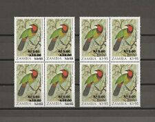 ZAMBIA 1989 SG 593 Variety MNH Block  of Four