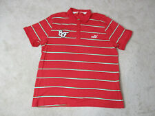 Puma Ferrari Polo Shirt Adult 2XL XXL Red Green Italy Racing Racer Rugby Mens