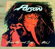 More details for poison - open up and say..ahh!  - 12x12 inch metal sign