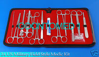 24 US Military Field Style Medic Instrument Kit - Medical Surgical Nurse DS-888
