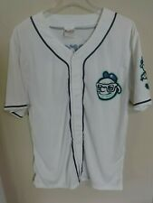 2017 MiLB Asheville Tourists SGA Button Front Baseball Jersey Men L White